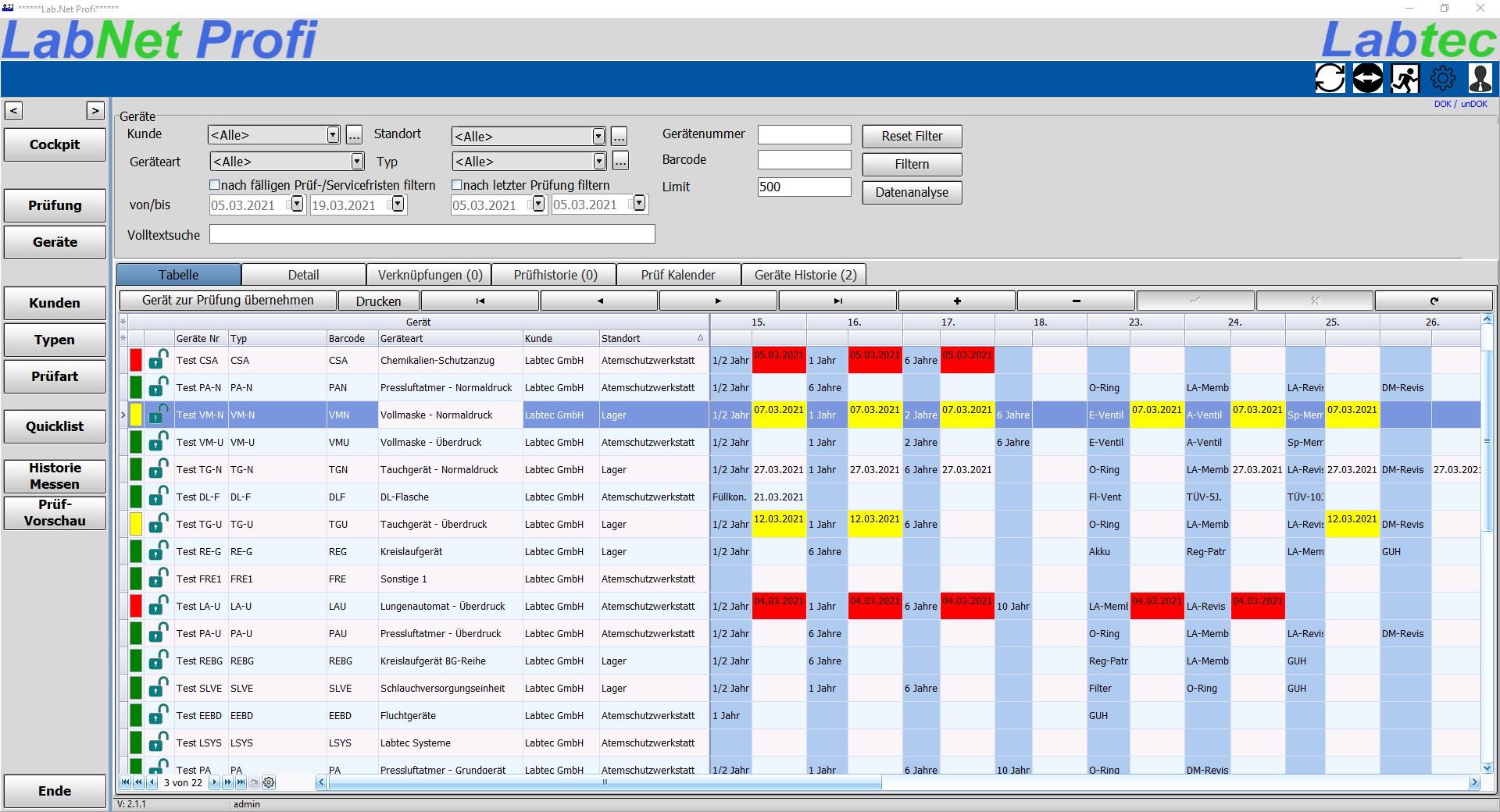 Software   Labtec Atemschutzprüfgeräte und Software